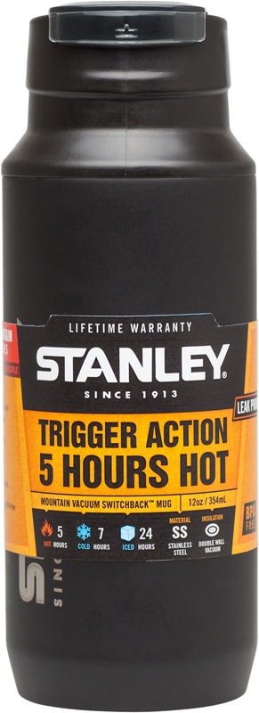 """<b>Термокружка Stanley</b> """"<b>Mountain</b>"""", <b>цвет</b>: черный, 350 мл — купить в ..."""
