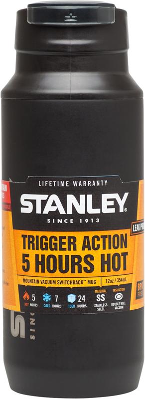 "Термокружка Stanley ""Mountain"", цвет: черный, 350 мл"