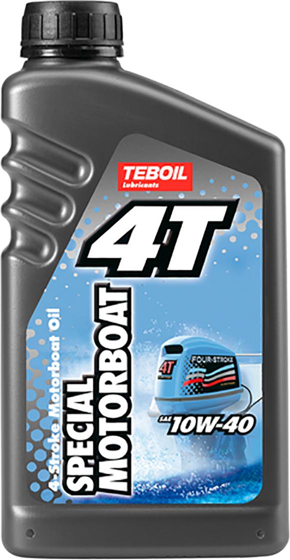 Масло моторное TEBOIL 4T SPECIAL MOTORBOAT, полусинтетическое, 10W-40, API SL/CF, 1 л моторное масло motul 5100 4t 10w 50 1 л