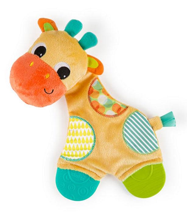 Погремушка Bright Starts Развивающая игрушка Самый мягкий друг с прорезывателями, Жираф 8916-3 прорезыватели bright starts игрушка самый мягкий друг с прорезывателями
