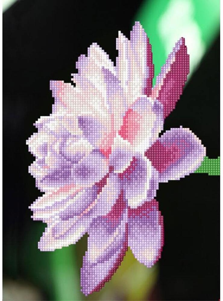 Набор для создания картины со стразами Цветной Цветок лотоса, 30 х 40 см. LEP005 набор для создания картины из шерсти цветной единорог 20 x 30 см