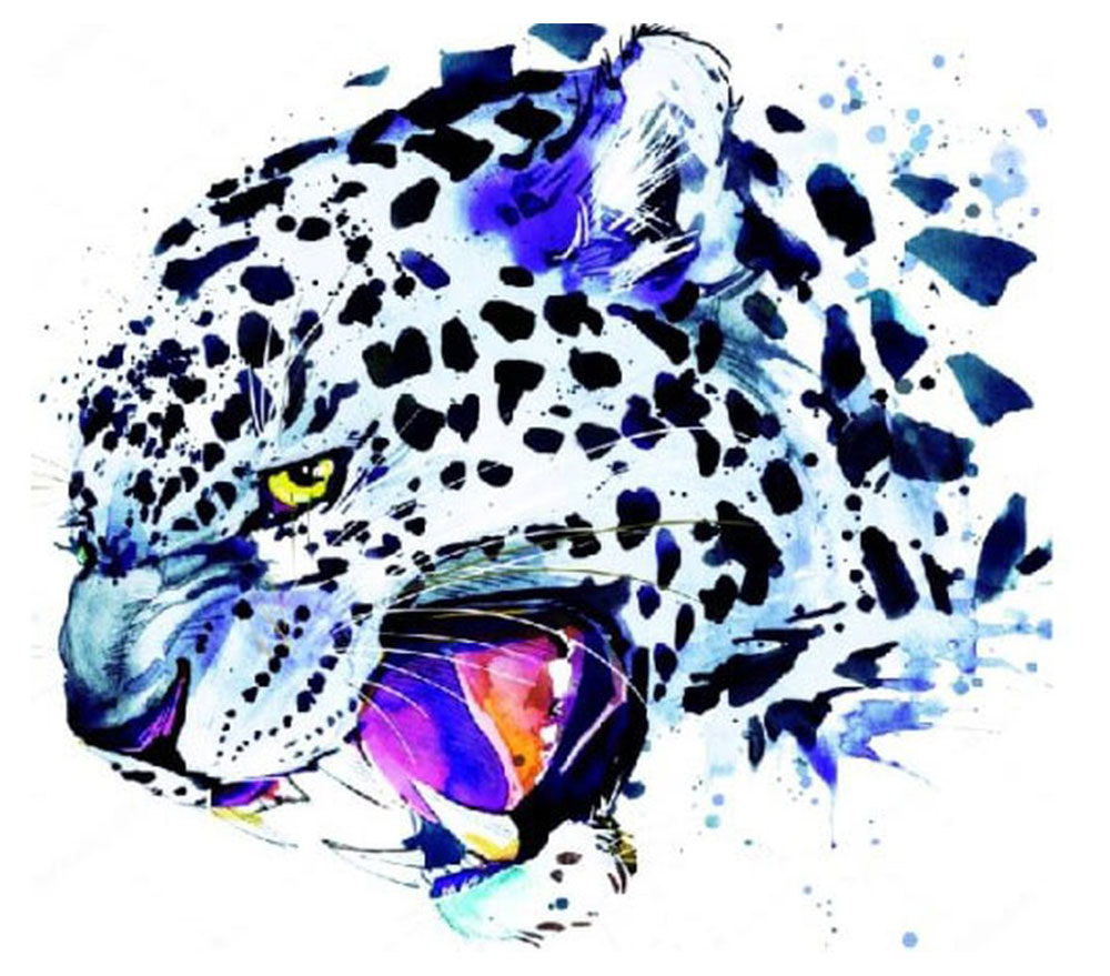 Набор для создания картины со стразами Цветной Ягуар, 30 х 40 см. LE017 набор для создания картины из шерсти цветной единорог 20 x 30 см