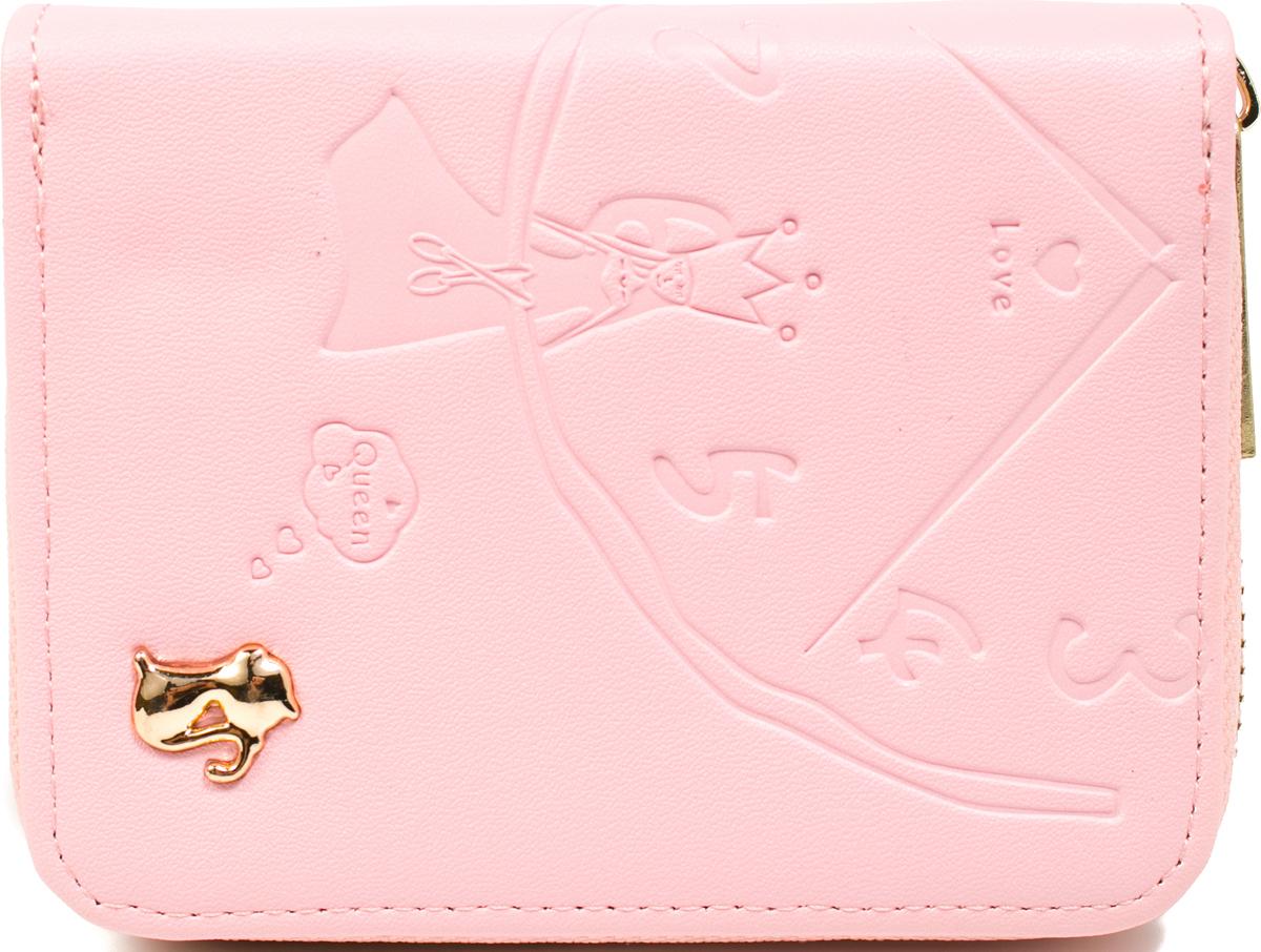 Кошелек женский Mitya Veselkov, цвет: розовый. K1901-71 цена и фото