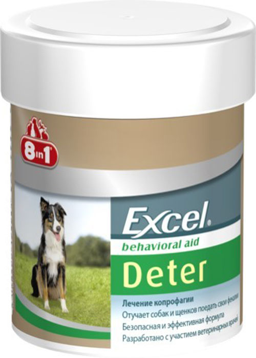 Средство от поедания фекалий 8in1 Excel Deter, 100 таблеток артра 100 таблетки