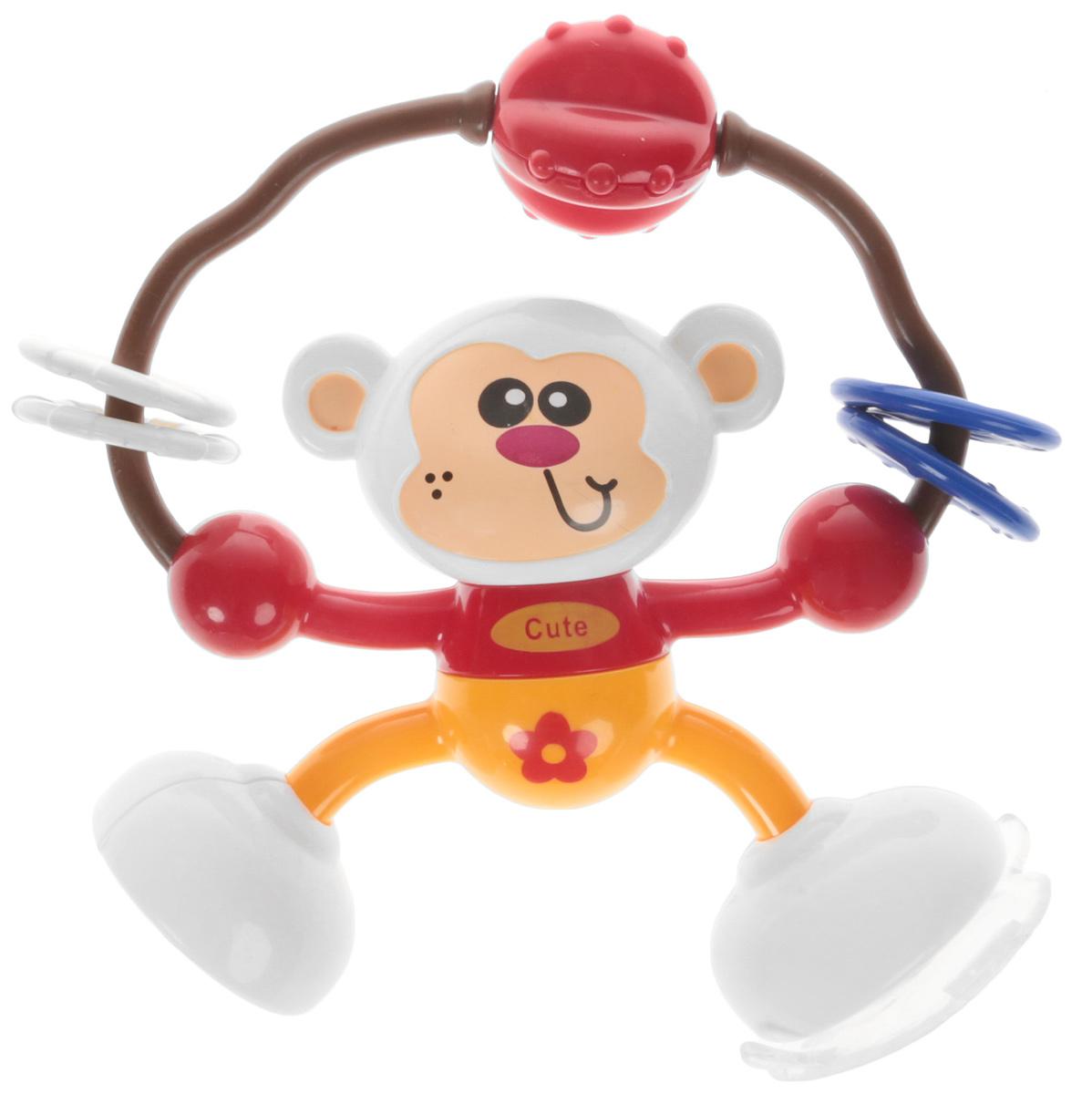 Ути-Пути Развивающая игрушка Обезьянка цвет красный оранжевый цена и фото