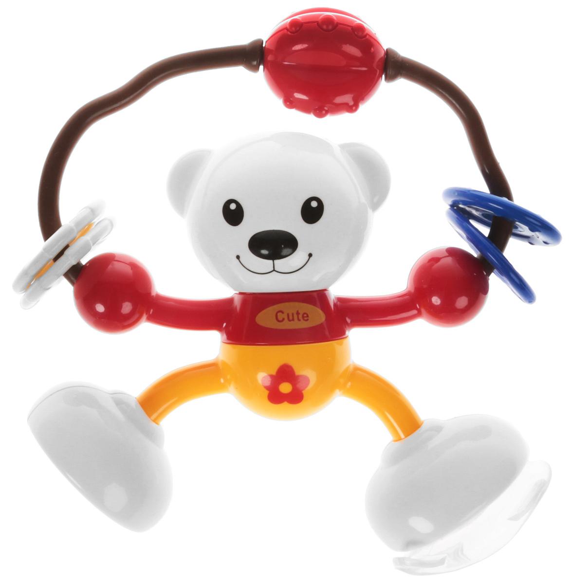 Ути-Пути Развивающая игрушка Мишка цвет красный оранжевый