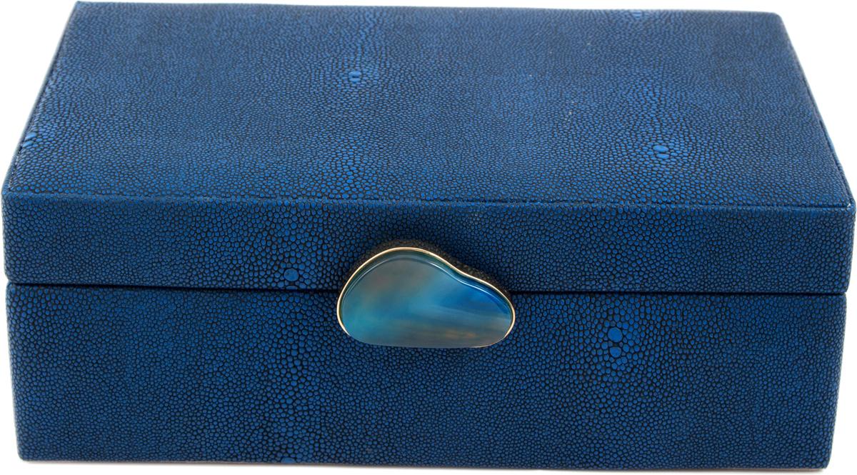 Шкатулка для украшений, цвет: синий, 23 х 17 х 9 см. 238110