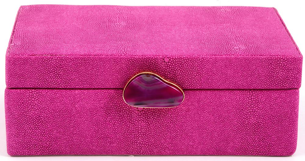 Шкатулка для украшений, цвет: розовый, 23 х 17 х 9 см. 238111