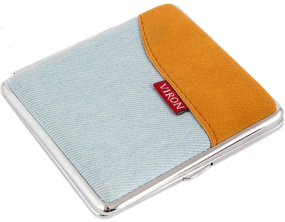 Портсигар Viron, цвет: оранжевый, 10 х 9 х 2 см. 4560545605Портсигар служит не только для хранения и переноски сигарет, но и может подчеркнуть имидж и стиль носящего. Прекрасный подарок для курящих людей.