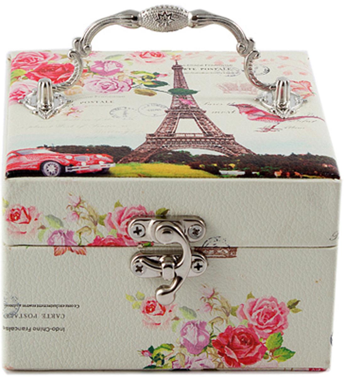 Шкатулка для украшений, цвет: розовый, 12,5 х 12,5 х 9 см. 84551