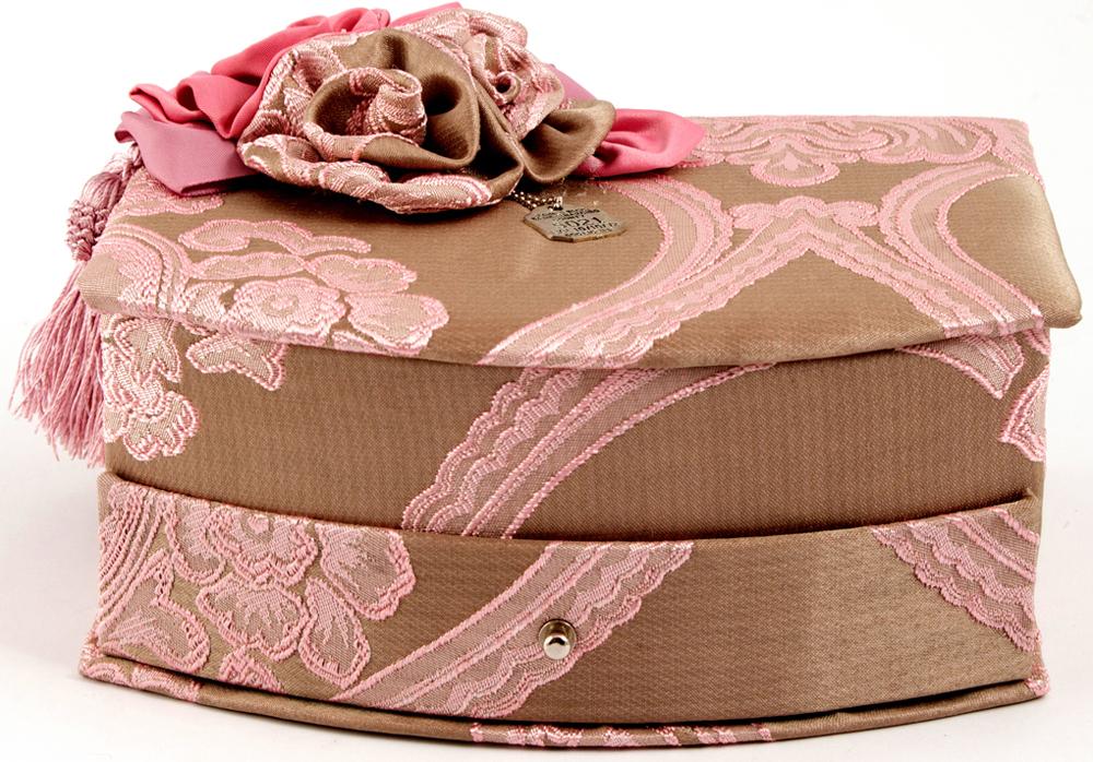 Шкатулка для украшений, цвет: розовый, 21 х 17 х 11 см. 84586