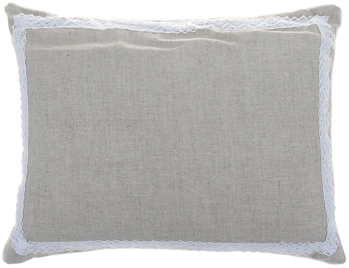 Подушка Bio-Textiles Кедровое очарование, наполнитель: кедр, цвет: бежевый, 30 х 40 см