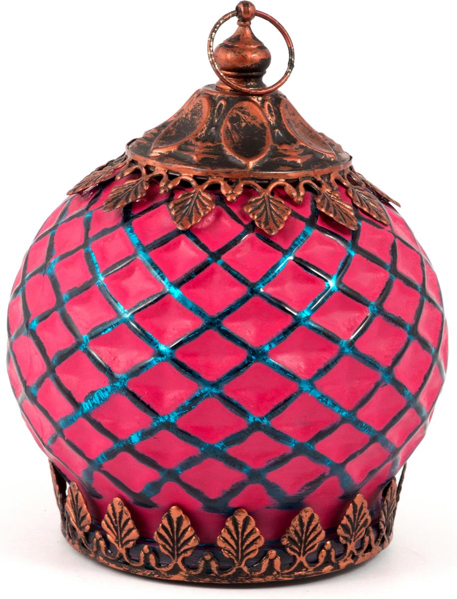 "Подсвечник-фонарь ""Маракеш"", цвет: розовый, 11 х 14 см. 86042"