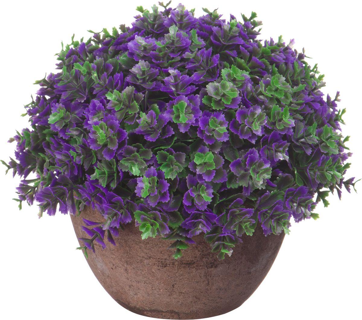 Композиция цветочная Engard Азалия, в кашпо, цвет: фиолетовый, 15 х 13,5 х 13,5 см цветы искусственные engard лесная фиалка цвет фиолетовый высота 15 см 10 шт