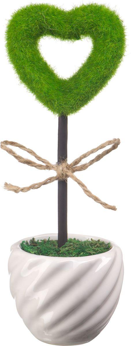 Фигурка декоративная Engard Сердце полое, 23 х 7 см украшение декоративное engard птичка с колокольчиком цвет зеленый 44 х 10 см