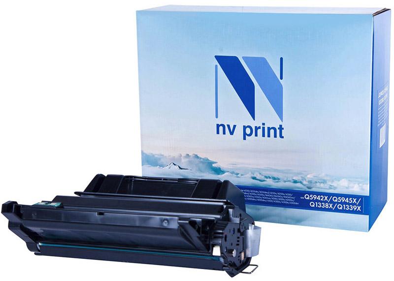 Тонер-картридж NV Print Q5942X/Q5945X/Q1338X/Q1339X, черный, для лазерного принтера, совместимый