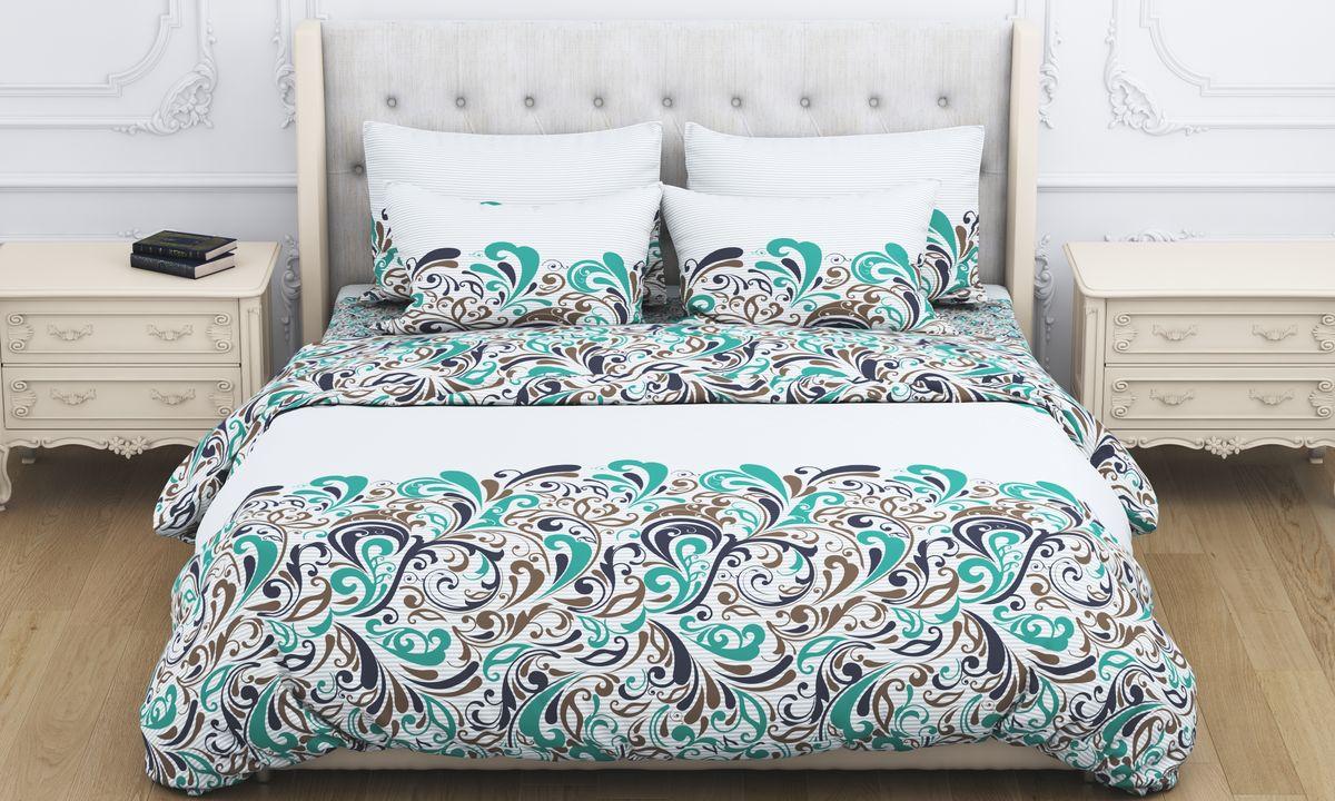 Комплект белья Amore Mio Fantasy, 2-спальный, наволочки 70x70, цвет: зеленый