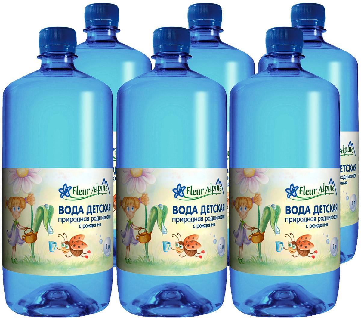 Fleur Alpine Вода детская питьевая с рождения, 6 шт по 1 л