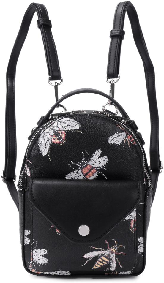 цена Рюкзак женский OrsOro, цвет: черный, 15 x 20 x 8 см. DS-827/3 онлайн в 2017 году