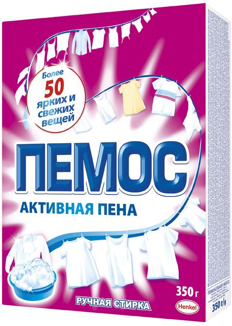 Фото - Стиральный порошок Пемос Активная пена, для ручной стирки, 350 г cтиральный порошок ave для ручной стирки 450 г