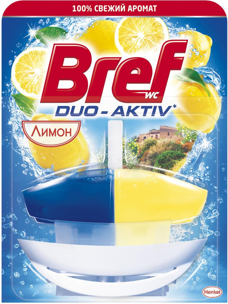 Чистящее средство для унитаза Bref Duo Aktiv Лимон, 50 мл чистящее средство для унитаза bref blue aktiv с хлор компонентом 3х50г