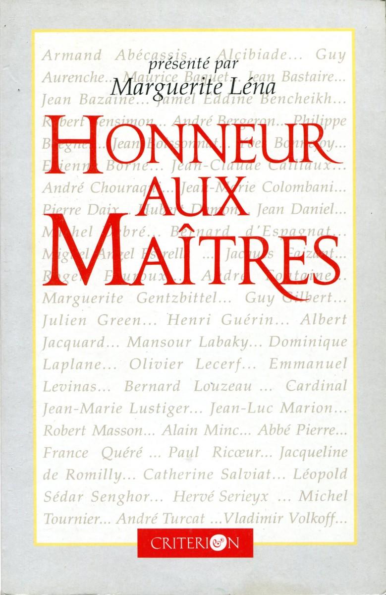 Marguerite Lena Honneur aux Maitres marguerite lena honneur aux maitres