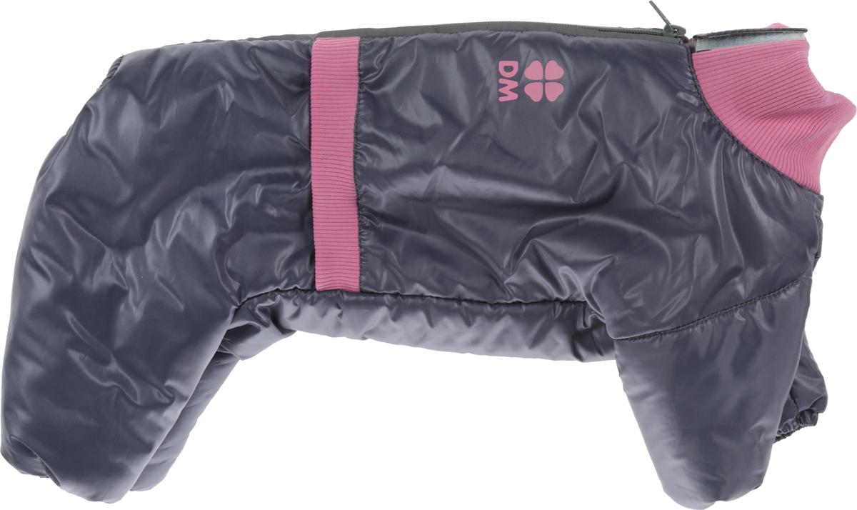 """Комбинезон для собак Dogmoda """"Китайская хохлатая"""", зимний, для девочки, цвет: серый, розовый"""