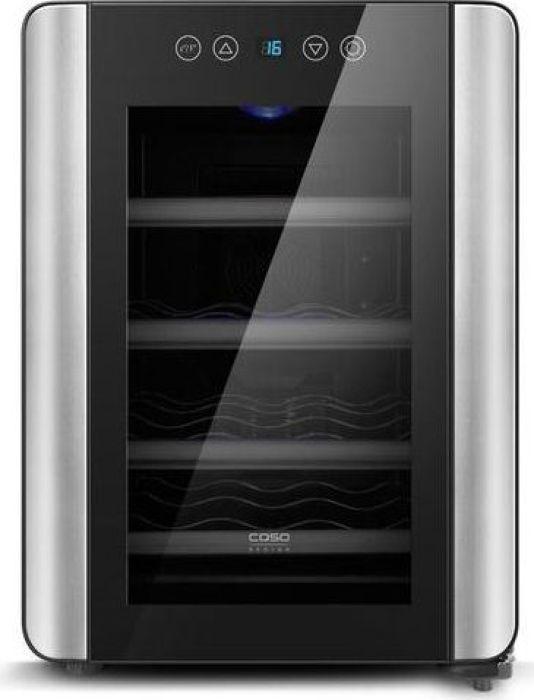 Винный шкаф CASO WineCase Red 12, Black Steel caso winecase 8