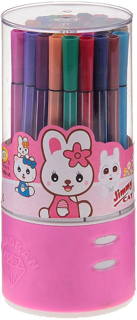 Набор фломастеров Полоска цвет упаковки розовый 36 шт
