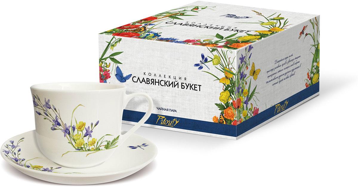 Чайная пара PrioritY Славянский букет. Колокольчики, 480 мл, 2 предмета цена
