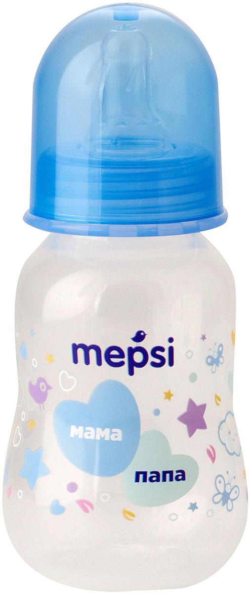 Mepsi Бутылочка для кормления с силиконовой соской от 0 месяцев 125 мл mepsi бутылочка для кормления с силиконовой соской от 0 месяцев цвет бирюзовый 125 мл
