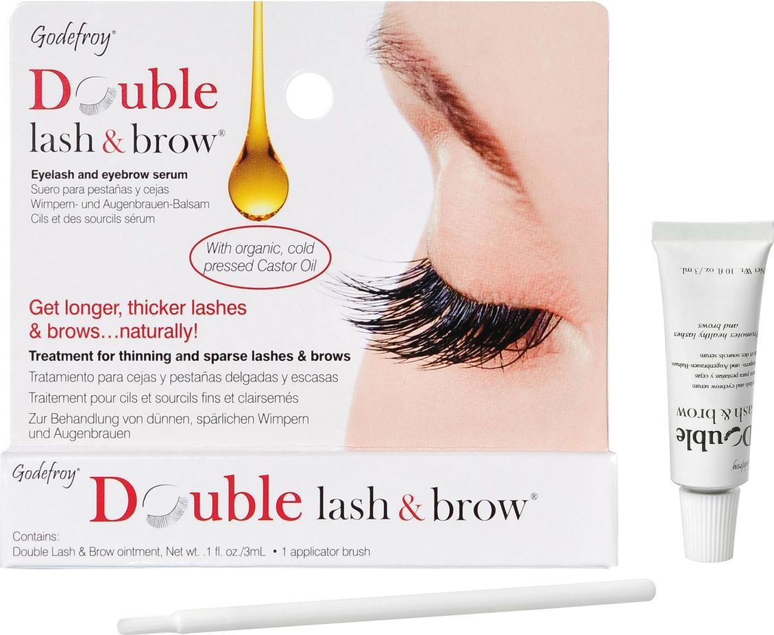 Godefroy Double Lash&Brow Organic Oil Масло-активатор роста бровей и ресниц натуральная формула, 3 мл