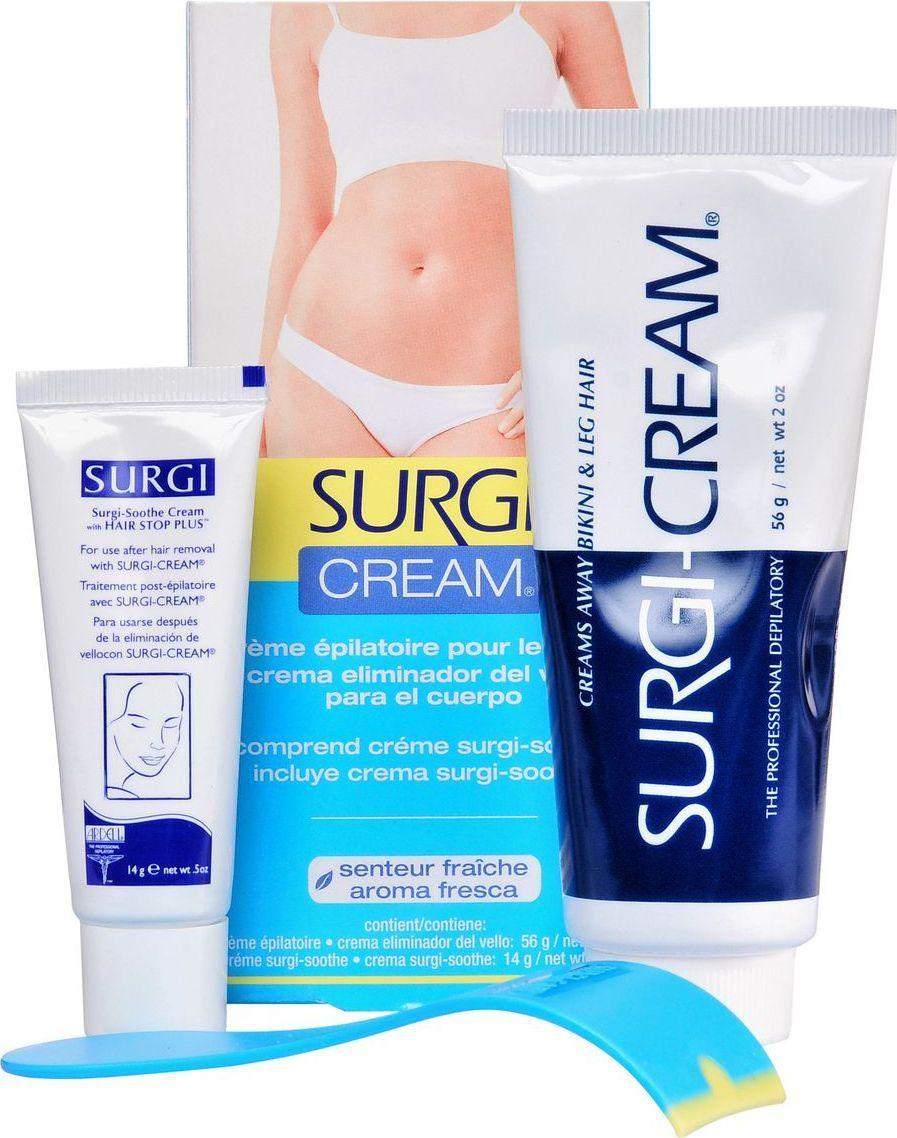 Surgi Набор Cream Bikini & Leg: крем для удаления волос в области бикини, успокаивающий крем цена