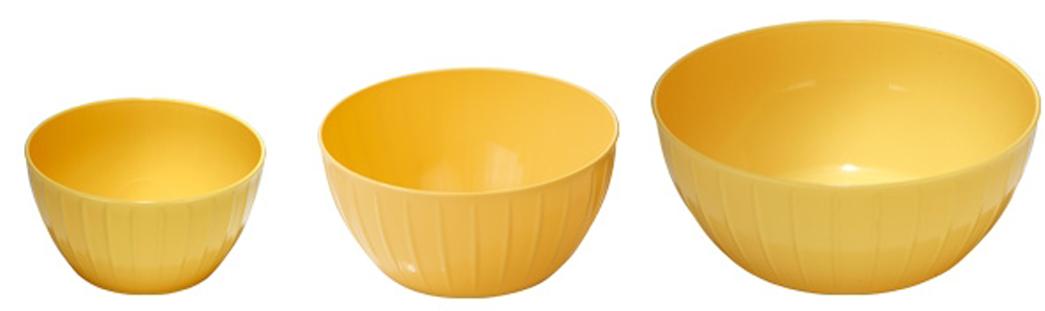 "Набор мисок Tescoma ""Delicia"", цвет: желтый, 3 шт"