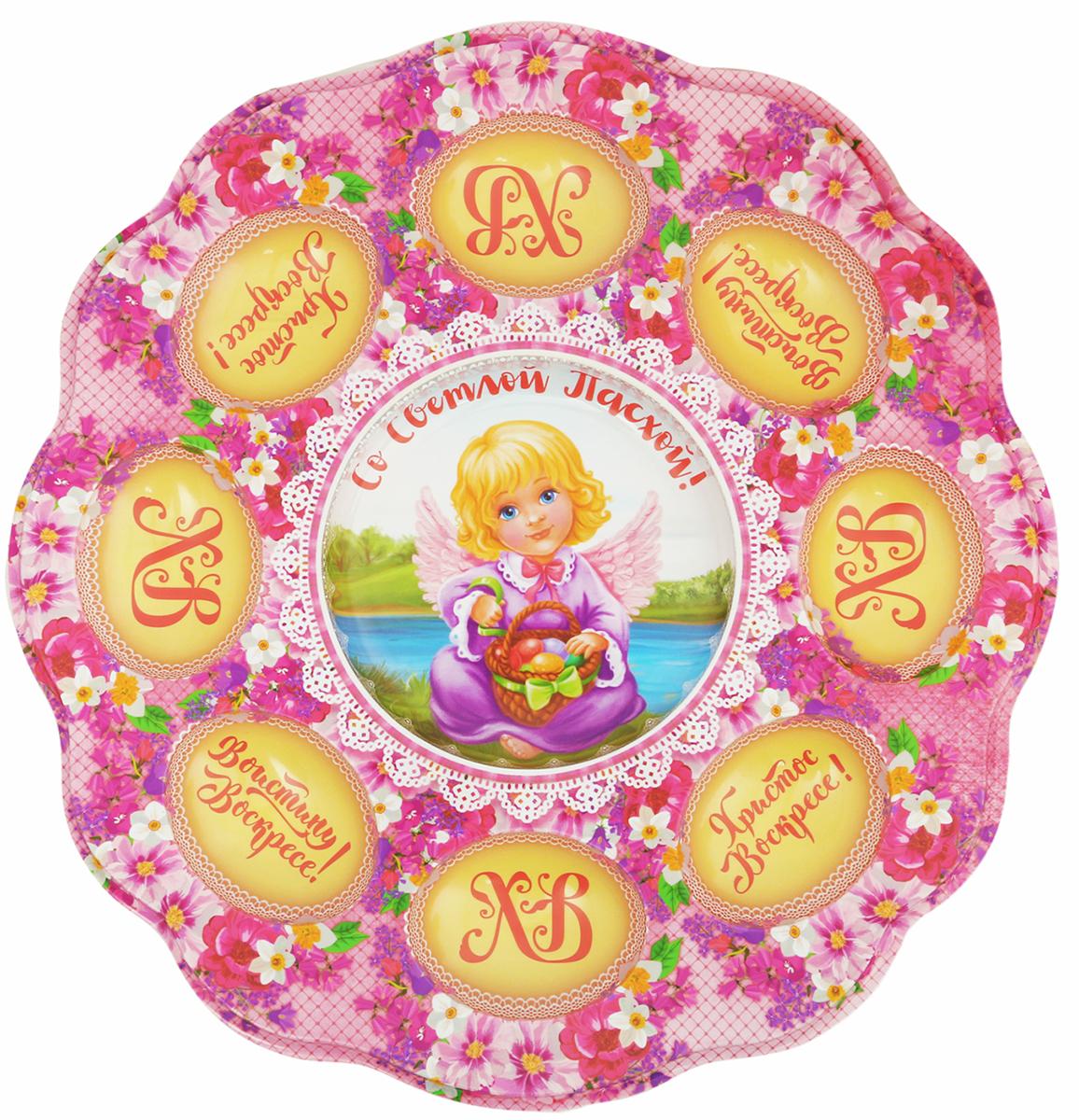 Подставка для яйца Ангелок, на 8 яиц, 24 х 25 см. 2634335 подставка для яйца городетская на 8 яиц и кулич 24 х 25 см 1653890