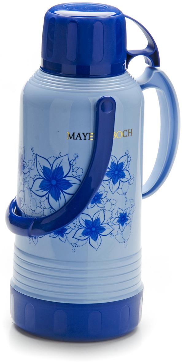 """Термос """"Mayer & Boch"""", с чашей, цвет: голубой, синий, 3,2 л . 23706"""
