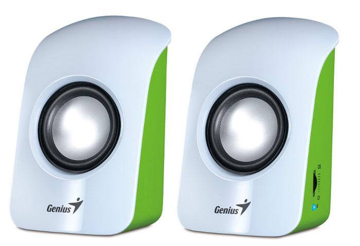 Компьютерная акустика Genius SP-U115, White колонки genius sp u115 2x0 75 вт usb черный