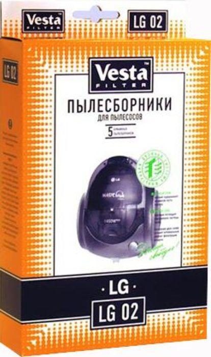 Vesta filter LG 02 комплект пылесборников, 5 шт комплект пылесборников vesta filter er 02 5 шт