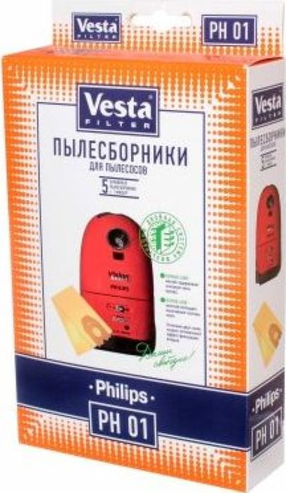 Vesta filter PH 01 комплект пылесборников, 5 шт water ionizer purifier filter lcd touch control alkaline acid machine ph 3 5 10 5 auto cleaning 6000l filter water purification