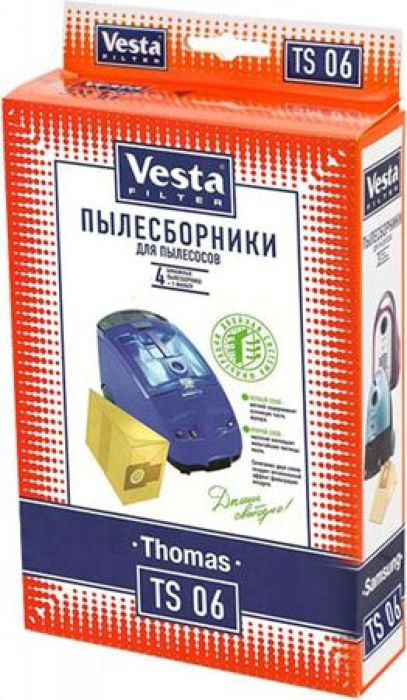 Vesta filter TS 06 комплект пылесборников, 4 шт + фильтр
