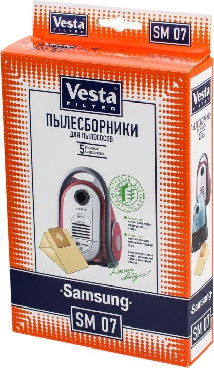 Vesta filter SM 07 комплект пылесборников, 5 шт цена 2017