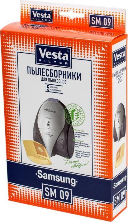 Vesta filter SM 09 комплект пылесборников, 5 шт цена