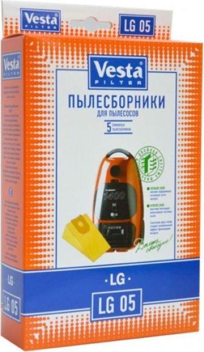 Vesta filter LG 05 комплект пылесборников, 5 шт комплект пылесборников vesta filter lg 03 5 шт