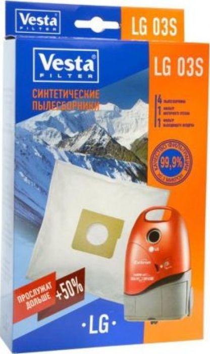 Vesta filter LG 03 S комплект пылесборников, 4 шт + 2 фильтра