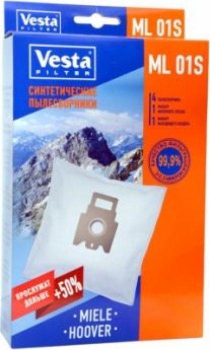 Vesta filter ML 01 S комплект пылесборников, 4 шт + 2 фильтра vesta filter zr 02 s комплект пылесборников 4 шт 2 фильтра