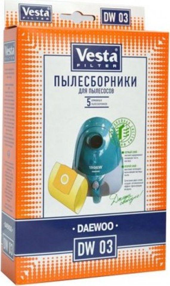 Vesta filter DW 03 комплект пылесборников, 5 шт