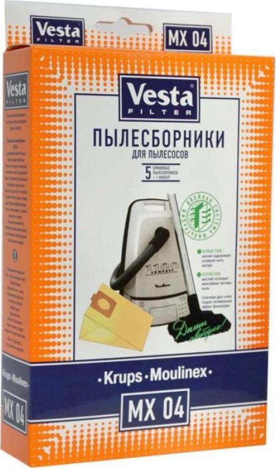 Vesta filter MX 04комплект пылесборников, 5 шт + фильтр Vesta filter