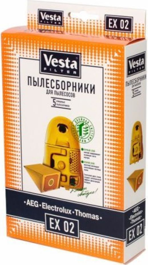 Vesta filter EX 02комплект пылесборников, 5 шт Vesta filter