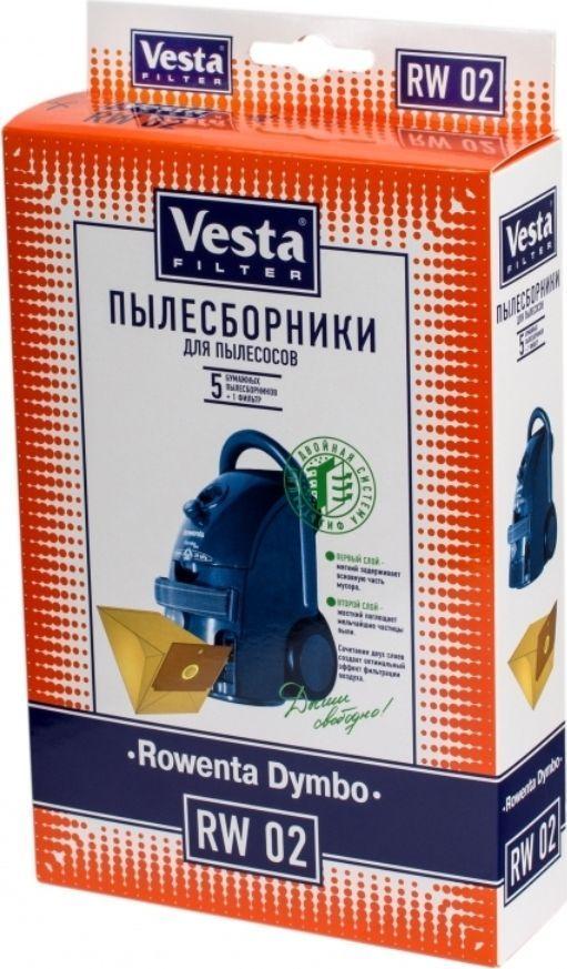 Vesta filter RW 02 комплект пылесборников, 5 шт комплект пылесборников vesta filter er 02 5 шт
