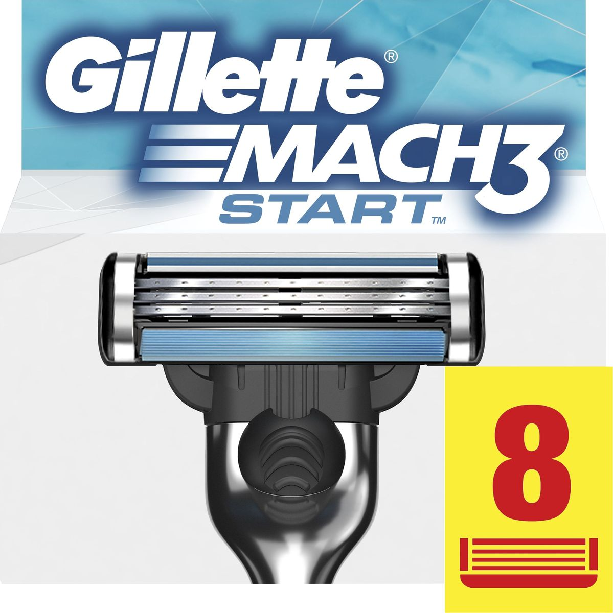 Gillette Mach3 Start Сменные Кассеты Для Бритвы, 8 шт